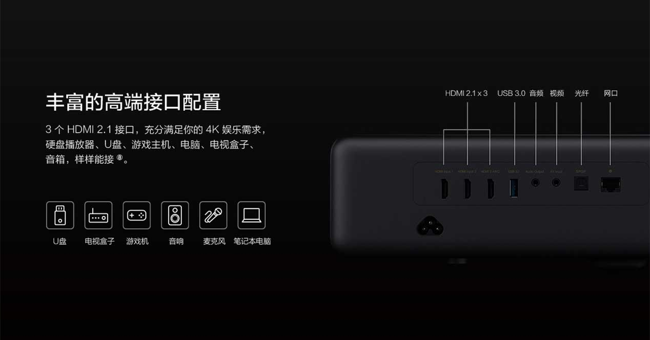 Xiaomi Mijia 4K Laser Projector: Altavoces