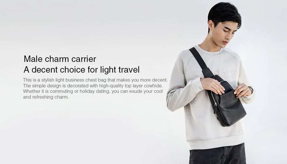 Bolso de Cuero Xiaomi VLLICON paquete