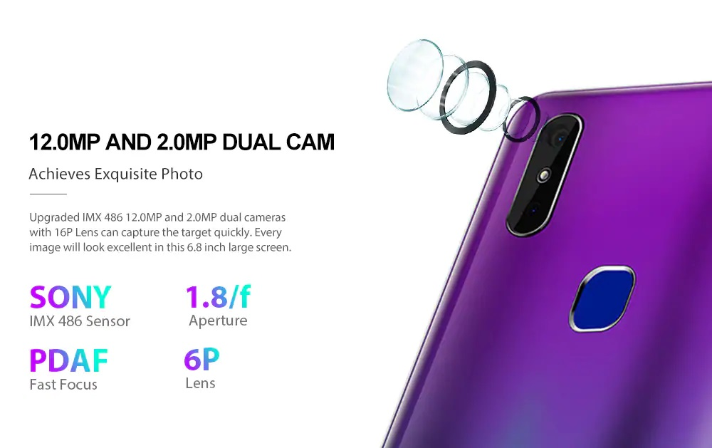 CUBOT MAX 2 cámaras