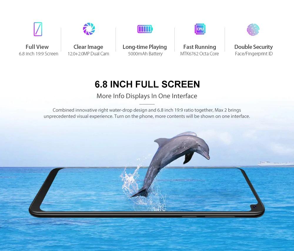 CUBOT MAX 2 pantalla