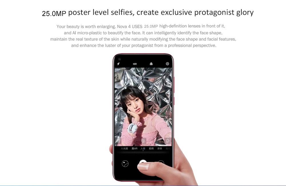 HUAWEI nova 4 cámara de selfies