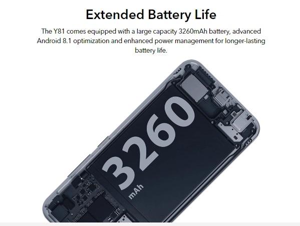 Vivo Y81 batería