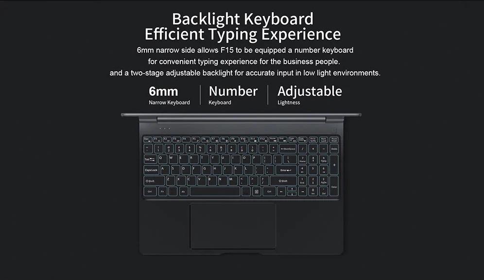 Teclast F15 teclado
