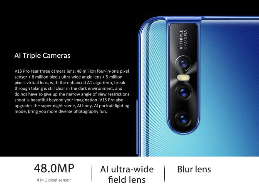 Vivo V15 Pro cámara trasera