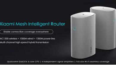 Xiaomi Mesh Smart Router: Diseño