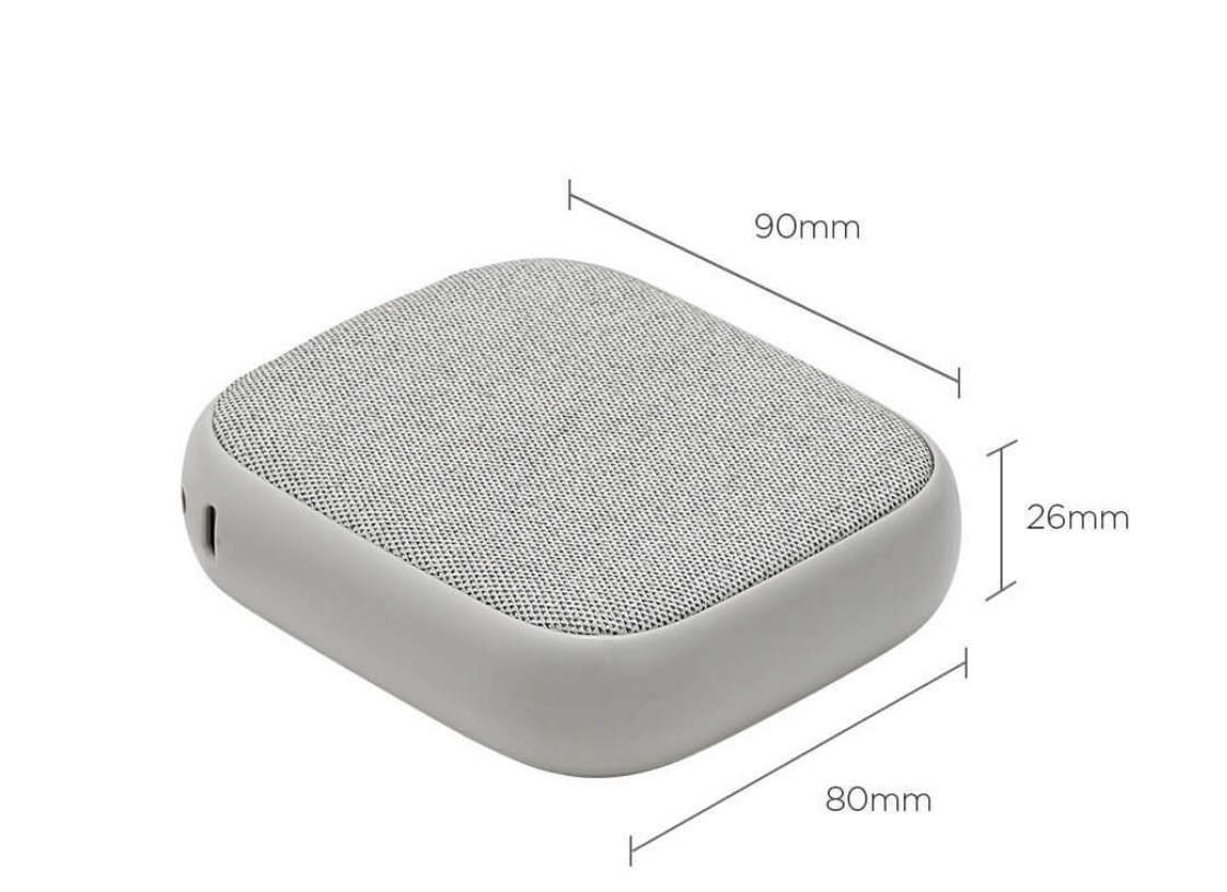 Xiaomi SOLOVE 10000mAh QI Wireless Power Bank dimencion