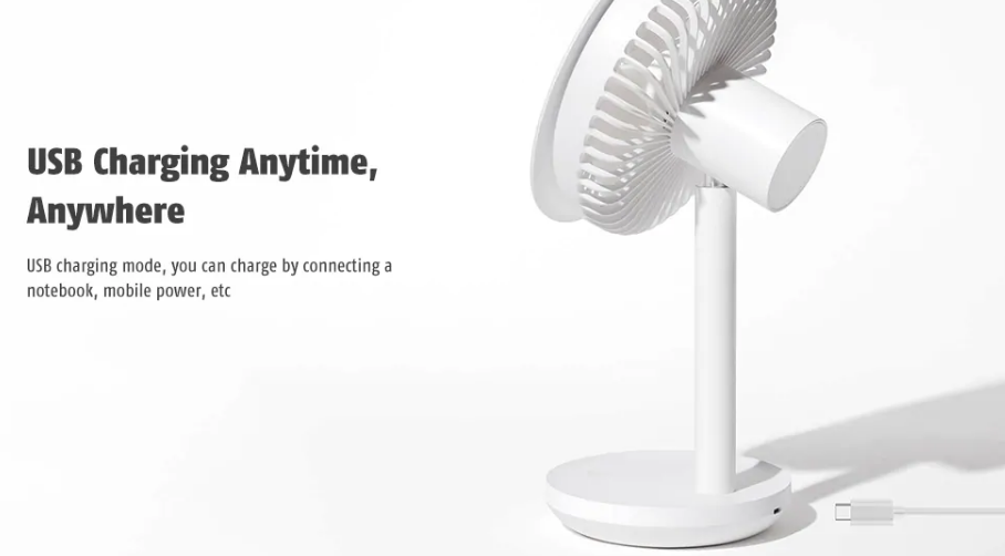 Xiaomi Solove Mini Desktop Fan: Batería