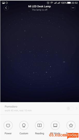 Xiaomi Mijia MJTD01YL Lamp Unboxing y Análisis:Aplicación para smartphone