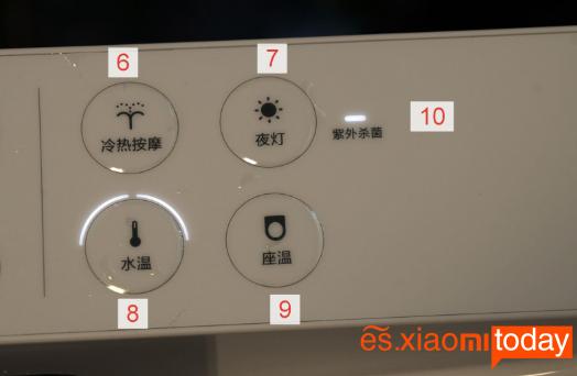 Xiaomi Smart Toilet Seat Análisis: Panel de control
