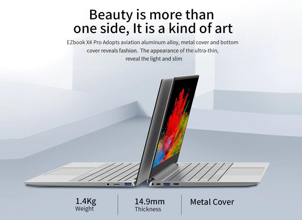 Jumper EZBook X4 Pro diseño