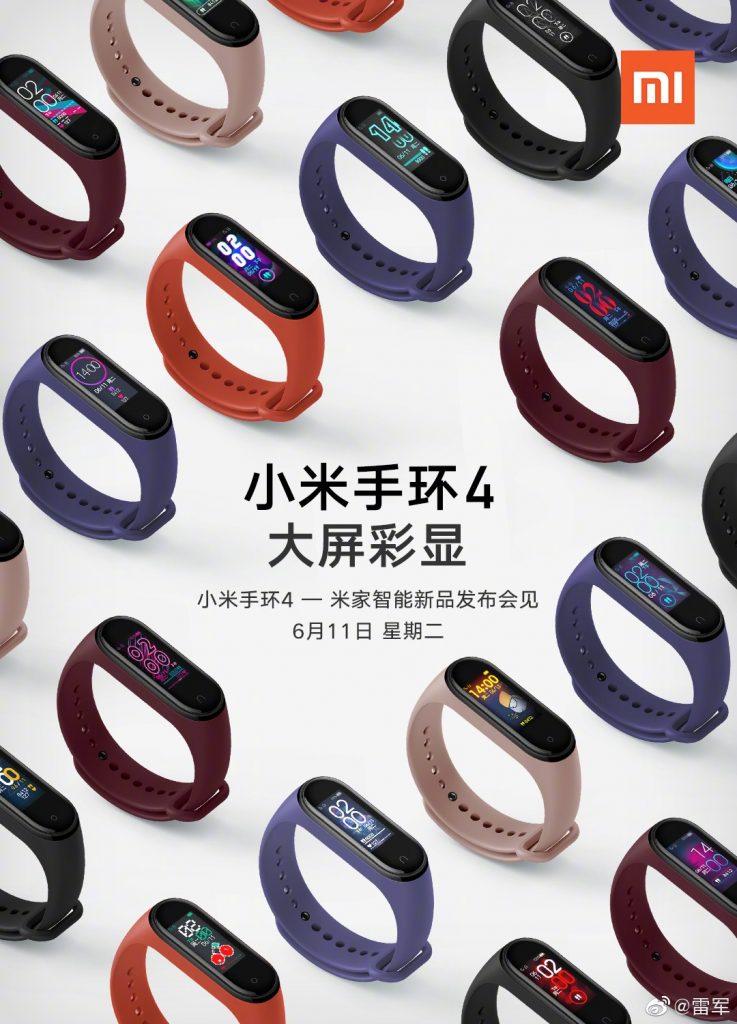 Xiaomi Mi Band 4 diseño oficial 01