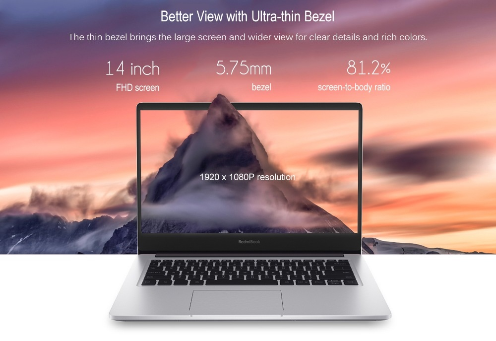 Xiaomi RedmiBook Laptop screen