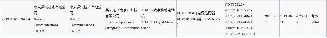 Posibles especificaciones del misterioso Xiaomi Mi CC9e