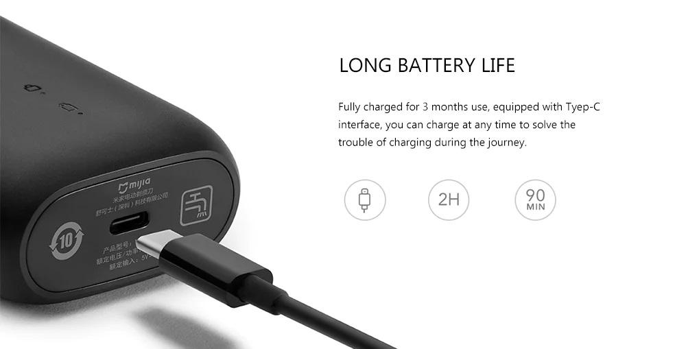 Afeitadora Xiaomi Mijia MSX201 batería
