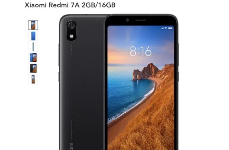 Redmi 7A - Modelo negro