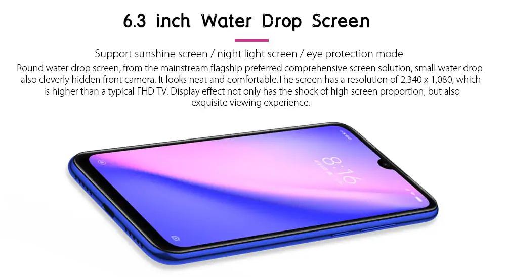 Redmi Note 7 pantalla