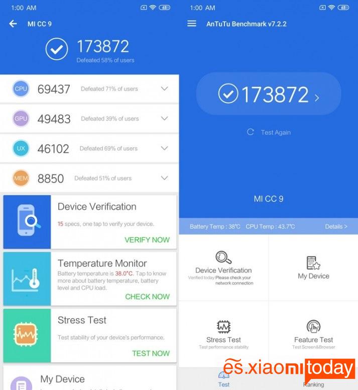 Xiaomi Mi CC9 Snapdragon 710