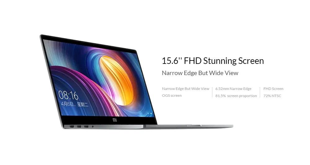 Xiaomi Mi Notebook Pro 2019 pantalla