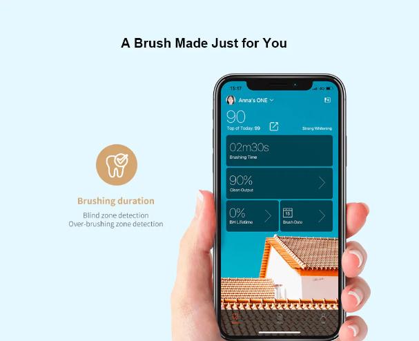 Xiaomi Oclean X Smart Sonic Toothbrush:Control de APP