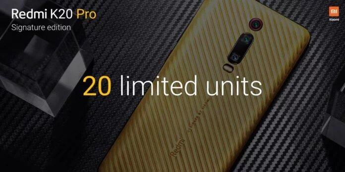 Una edición especial del popular Redmi K20 Pro fue lanzada en la India