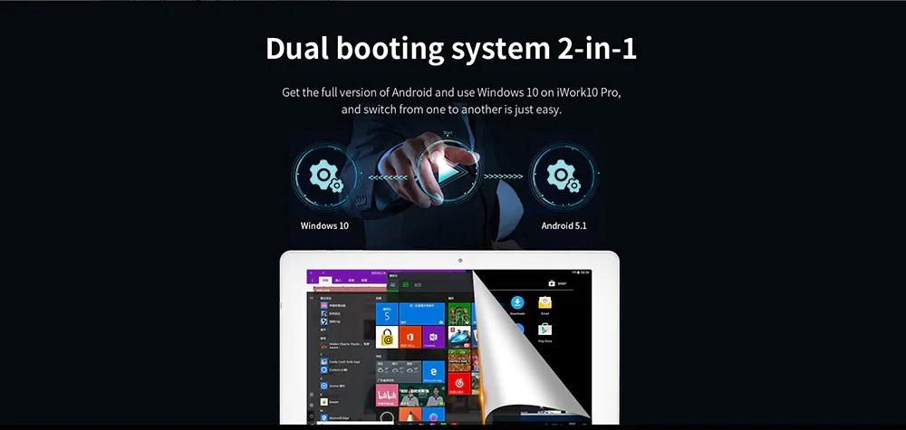 ALLDOCUBE iWork 10 Pro 2 in 1 Tablet PC sistema