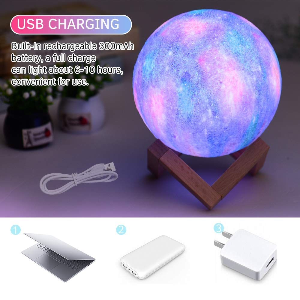 Aibecy LED Moon Lamp carga