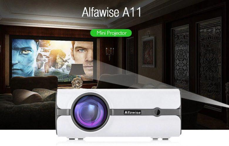 Alfawise Lumens Home Theater Mini Projector destacada