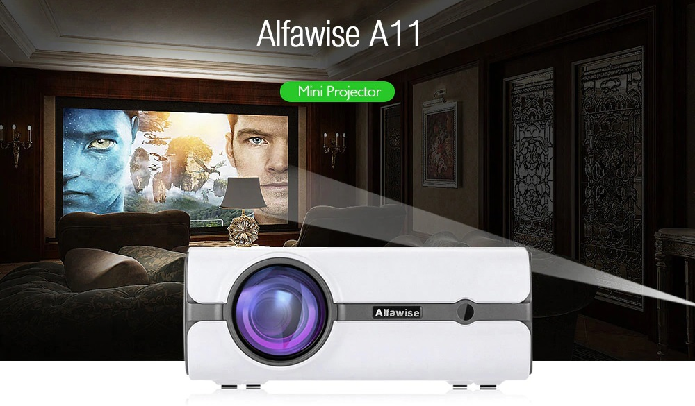 Alfawise Lumens Home Theater Mini Projector destacada