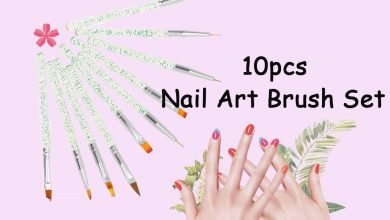 Anself 10pcs set Nail Art Brush Painting Drawing Pen