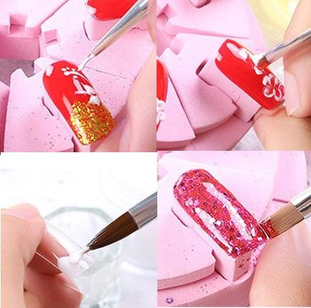 Anself 10pcs set Nail Art Brush Painting Drawing Pen pintura