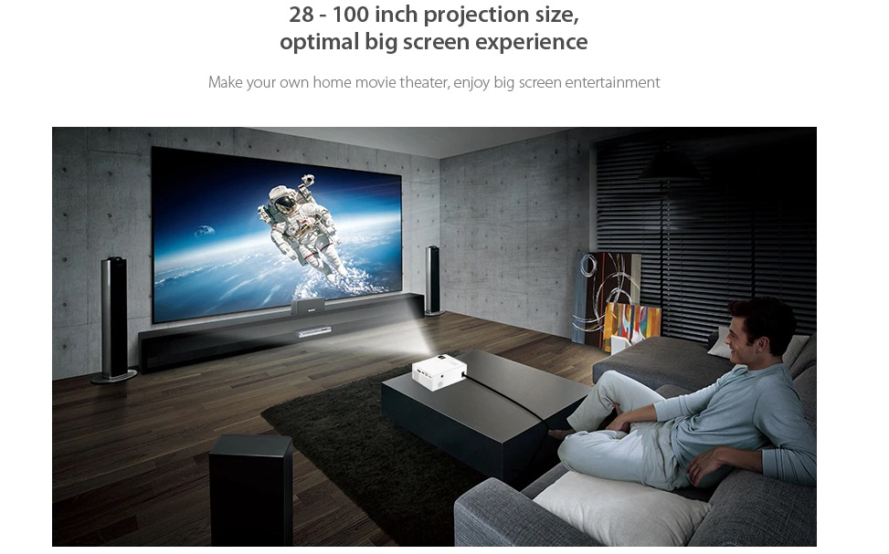 Bilikay A20 Home Smart Projector HD distancia