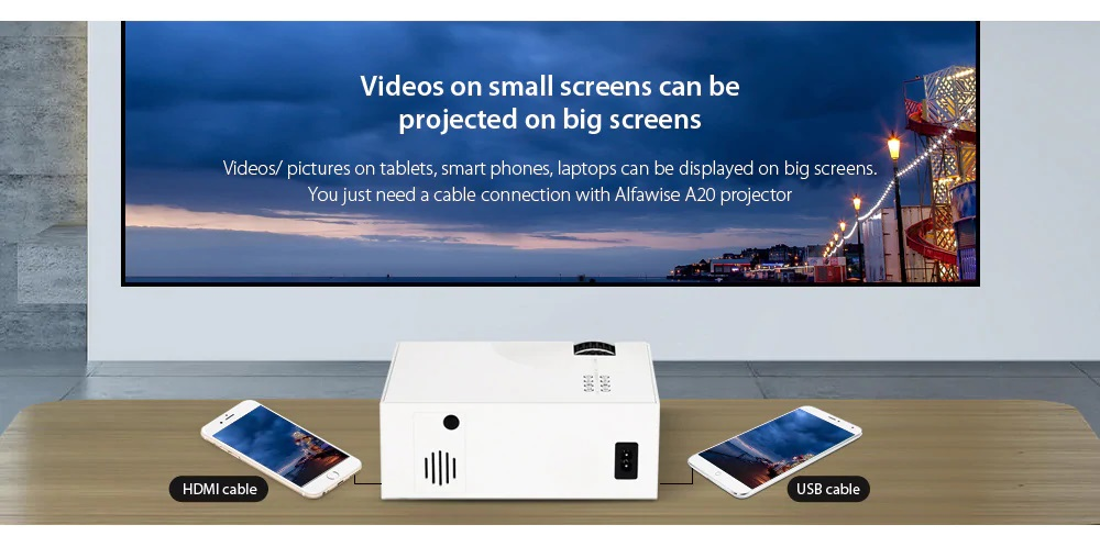 Bilikay A20 Home Smart Projector HD prestaciones