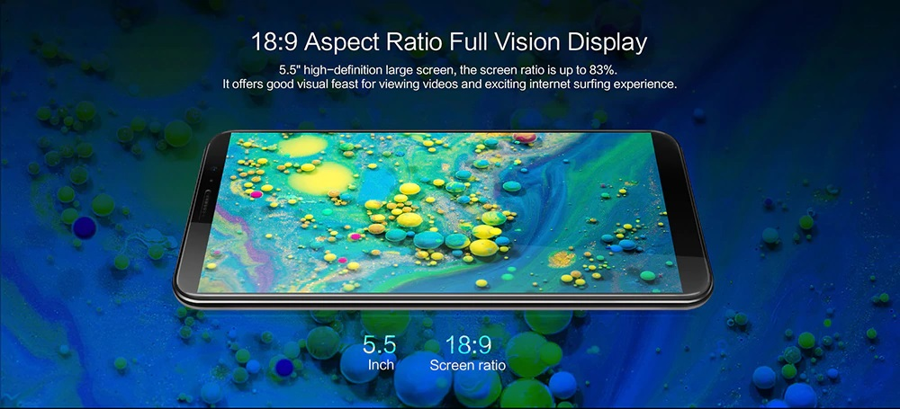 Cubot J5 3G Phablet pantalla