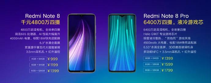 Redmi Note 8 Pro y Redmi Note 8