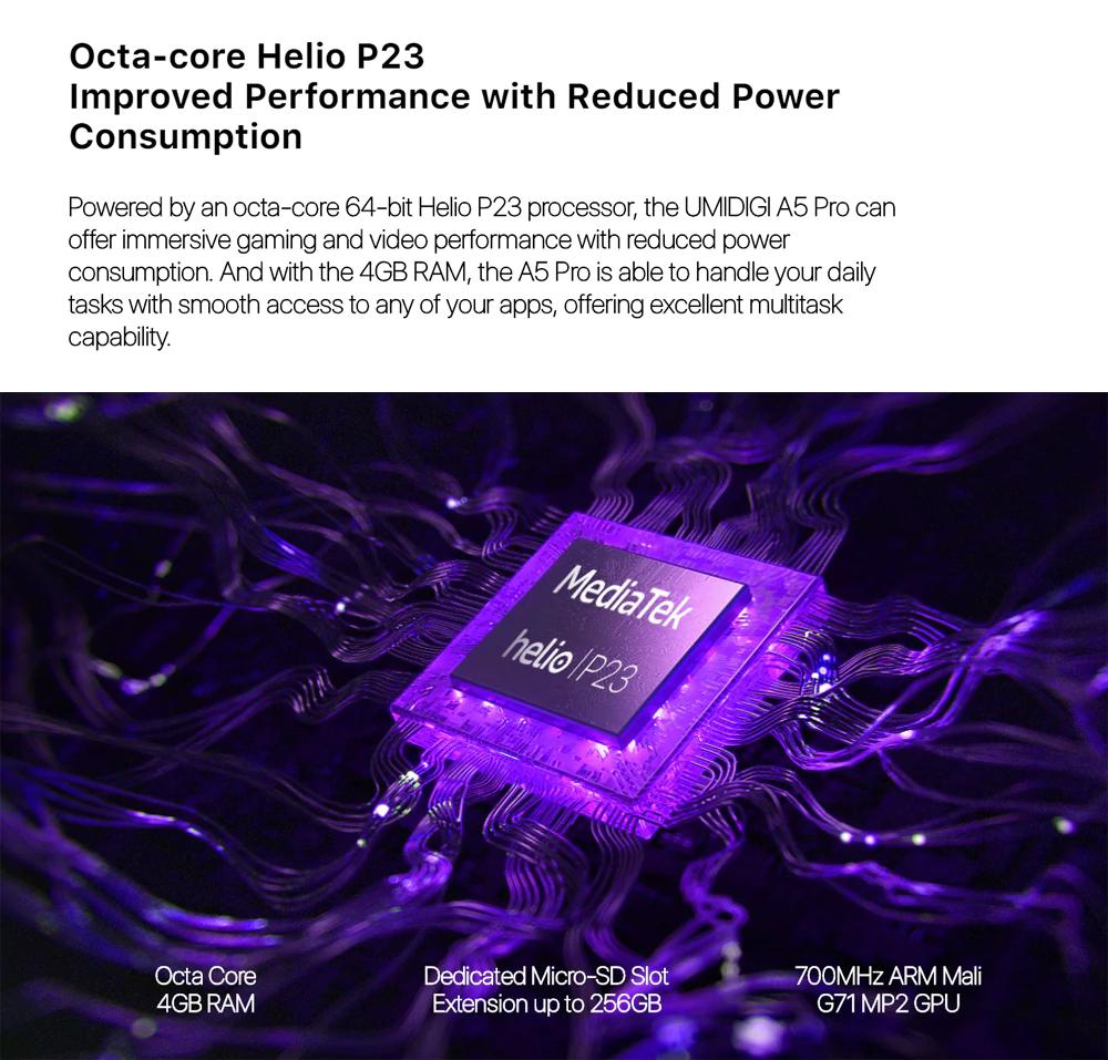UMIDIGI A5 PRO - Procesador