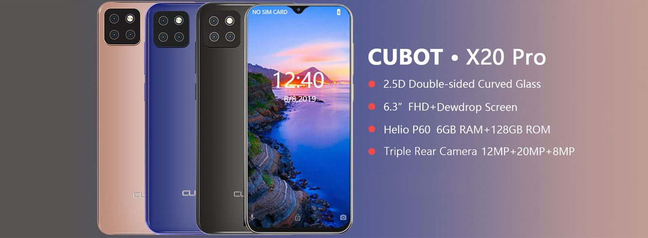 CUBOT X20 Pro intro