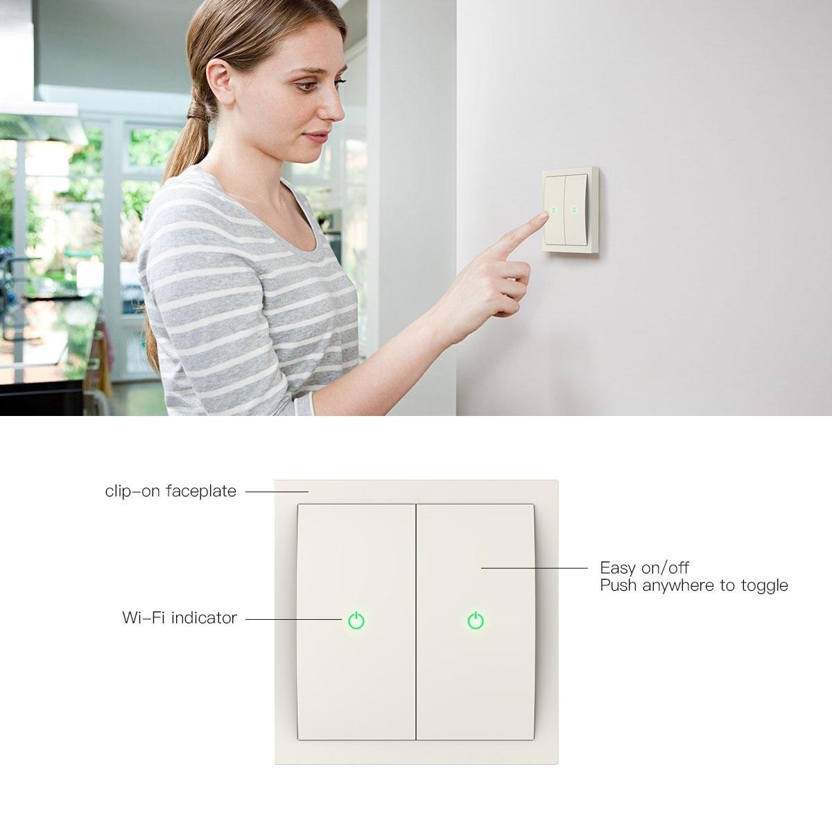 Koogeek Wi-Fi Smart Light Switc diseño estructura