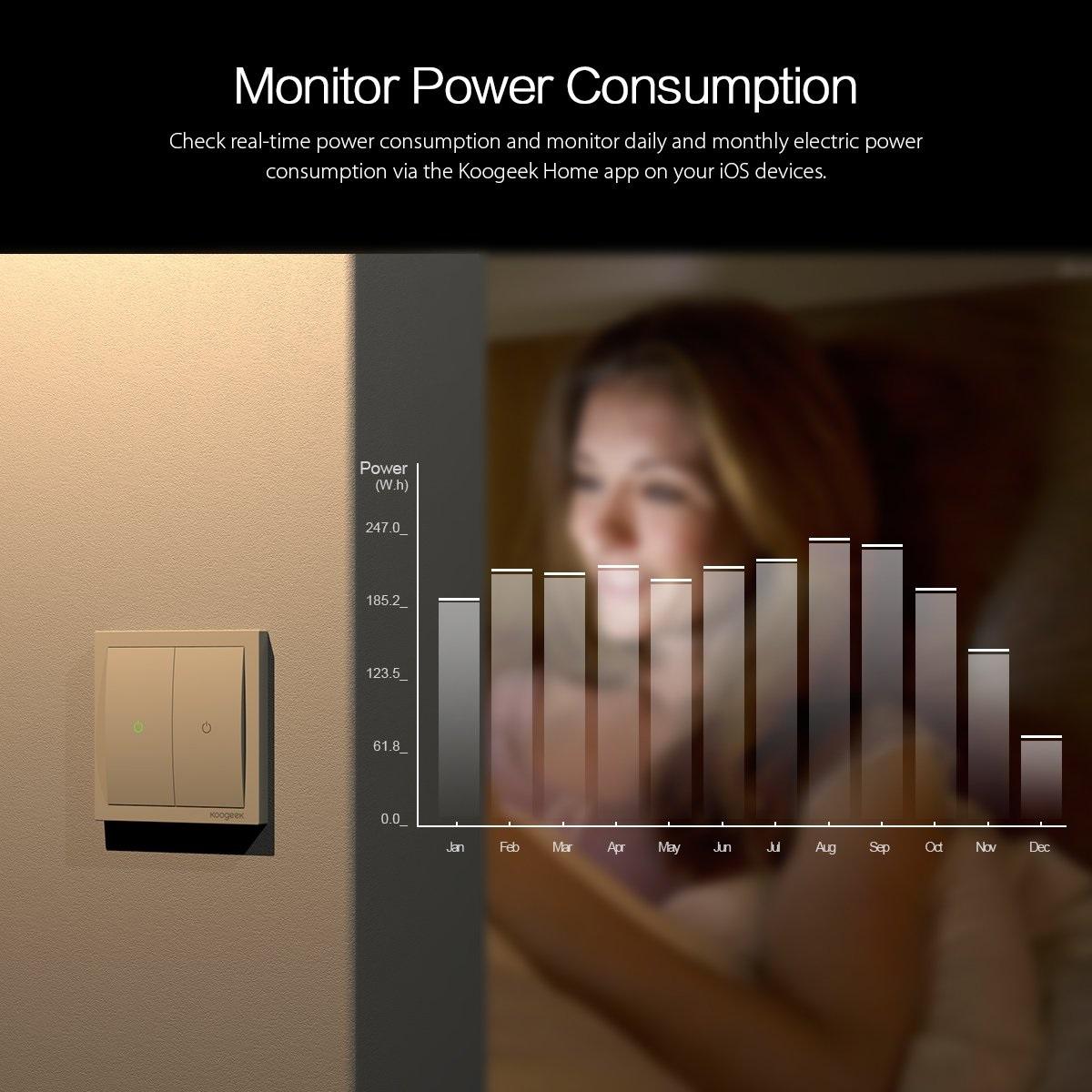 Koogeek Wi-Fi Smart Light Switc monitor