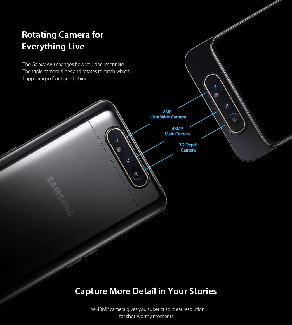 Samsung Galaxy A80 cámara