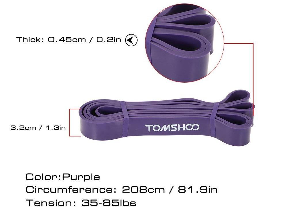TOMSHOO Elastic Exercise Bands diseño
