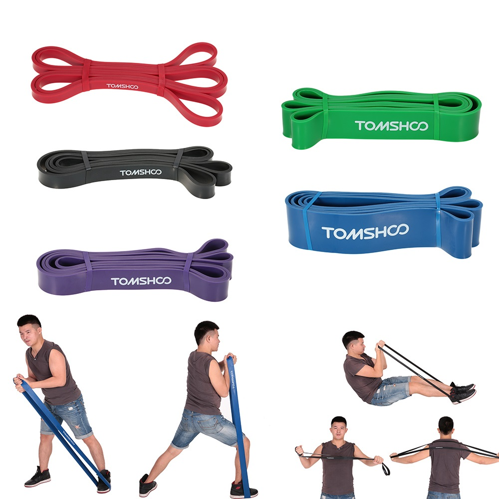 TOMSHOO Elastic Exercise Bands platico
