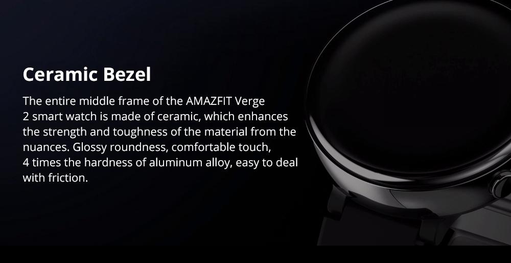 Xiaomi HUAMI AMAZFIT Verge 2: cuenta con un cuerpo especial de cerámica