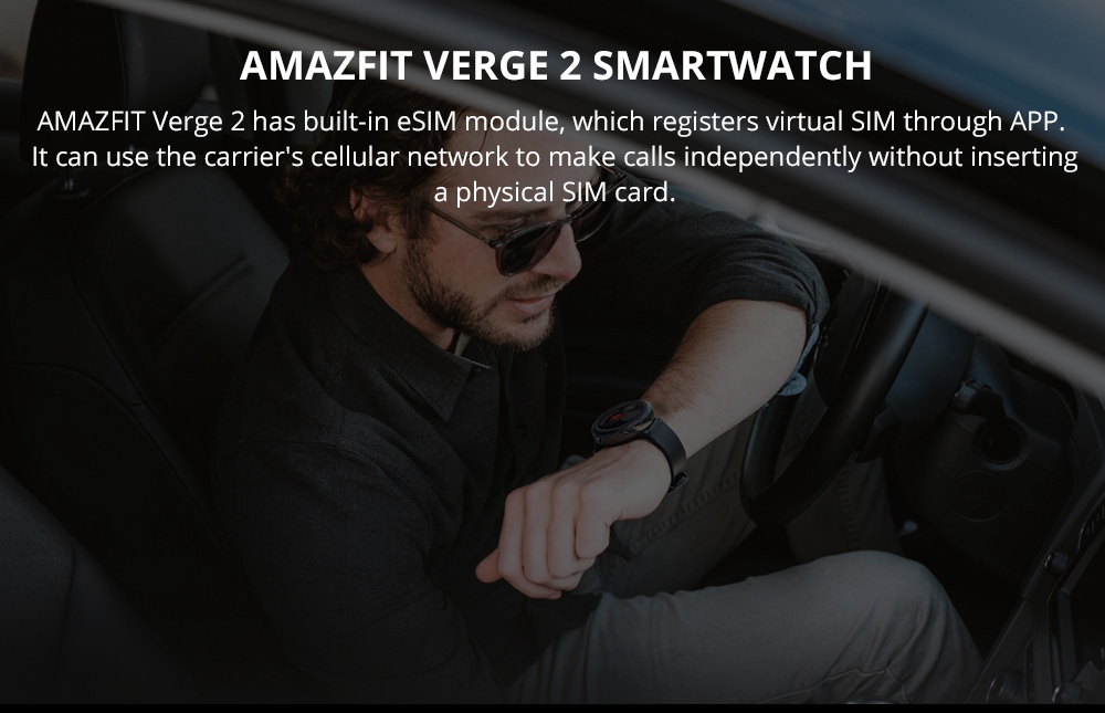 Xiaomi HUAMI AMAZFIT Verge 2: posee un módulo eSIM incorporado