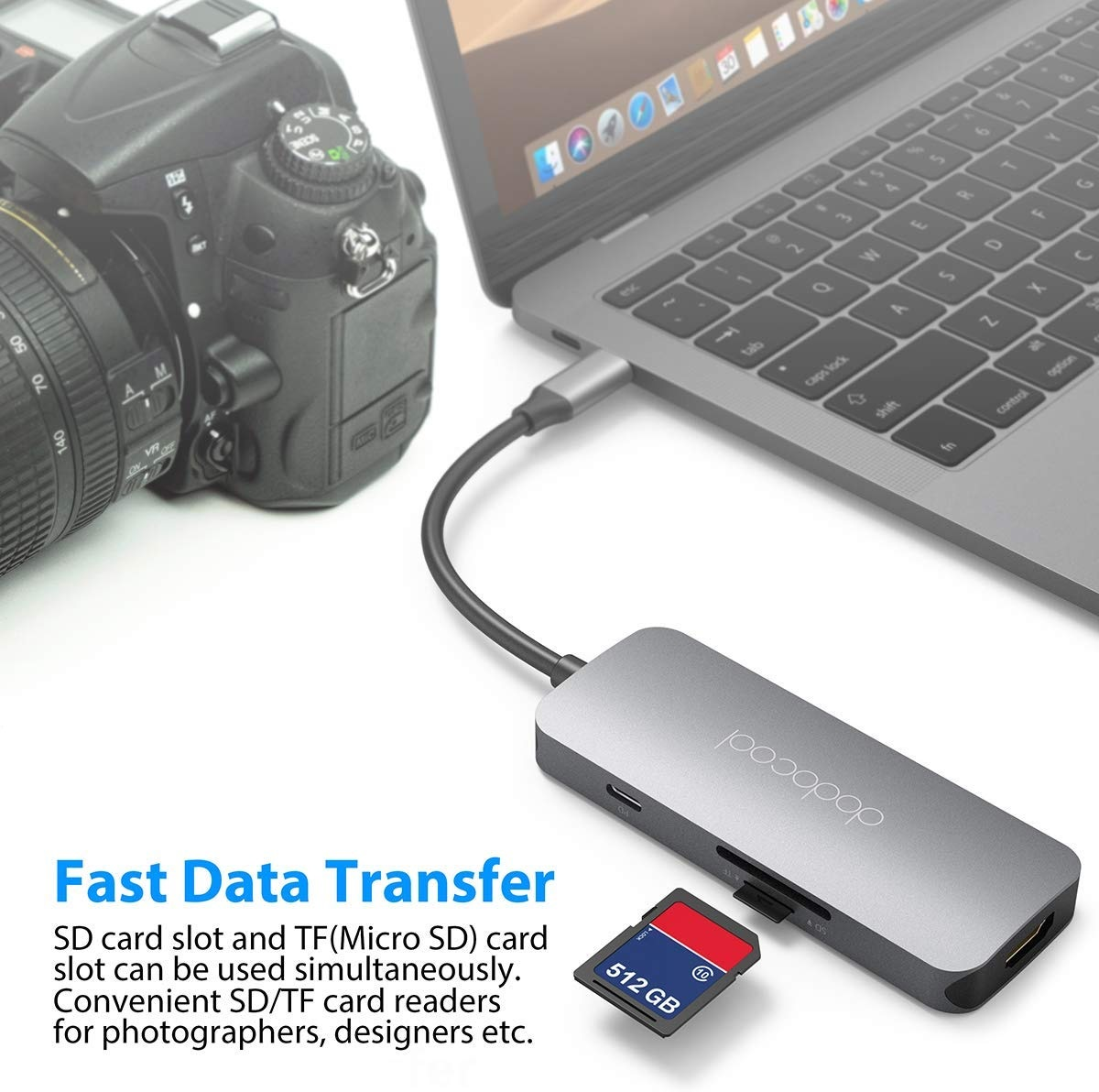 Dodocool 7-in-1 Multifunction USB-C SD