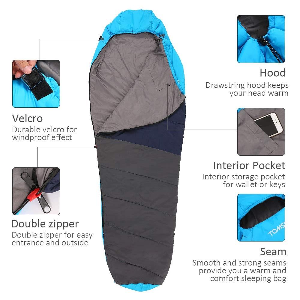 TOMSHOO Mummy Sleeping Bag características
