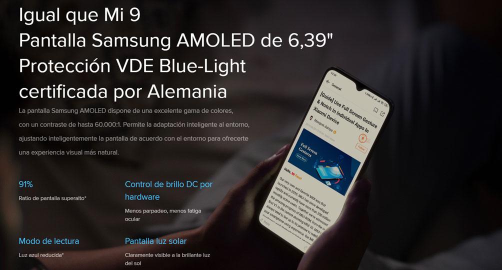 Xiaomi Mi 9 Lite - Pantalla