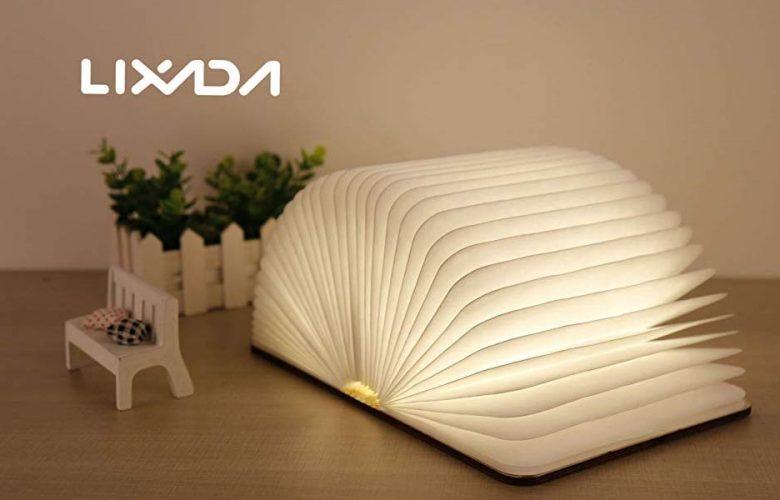 Lixada Lámpara LED en forma de Libro