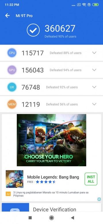 Xiaomi 9T Pro: AnTuTu