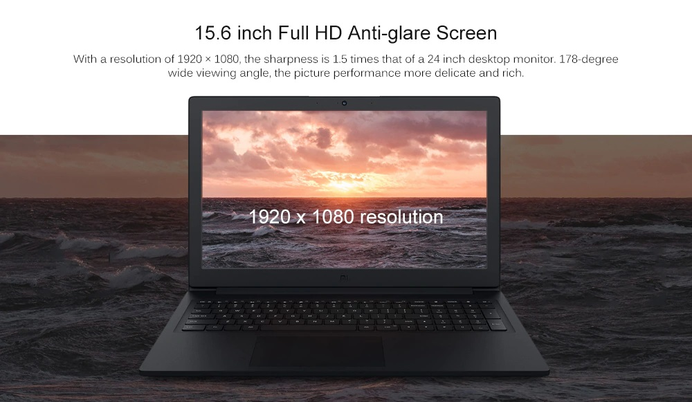 Xiaomi Mi Ruby Notebook pantalla